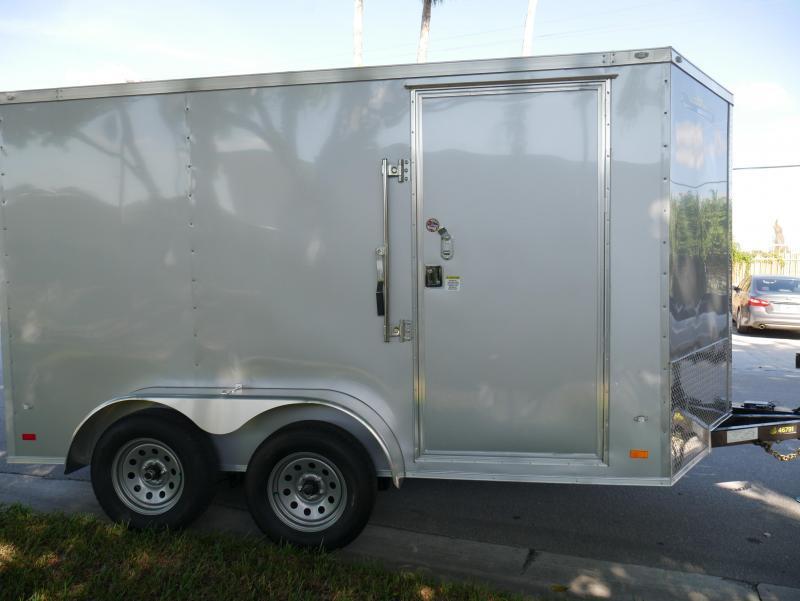 *E14B* 7x12 Enclosed Cargo Trailer Silver TA Trailers 105351  7 x 12   EV7-12T3-R