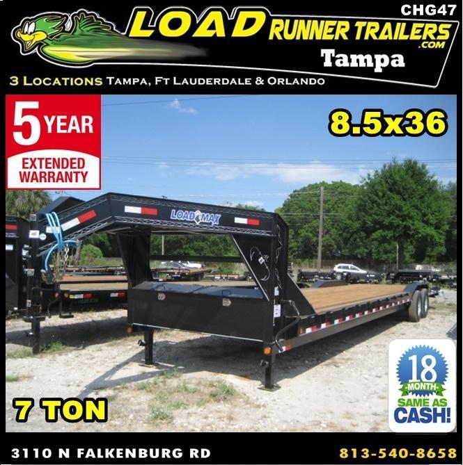 *CHG47* 8.5x36 7 TON Gooseneck Car Hauler Trailer |LR Trailers 8.5 x 36 | CHG102-36T7-DOF in Ashburn, VA