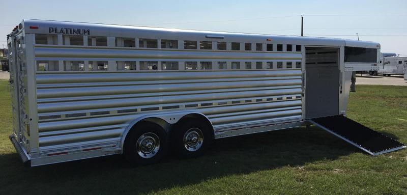 2018 Platinum Coach 24 Show Stock Livestock Trailer