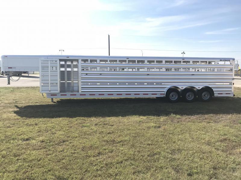 2018 Platinum Coach 32 Stock Livestock Trailer