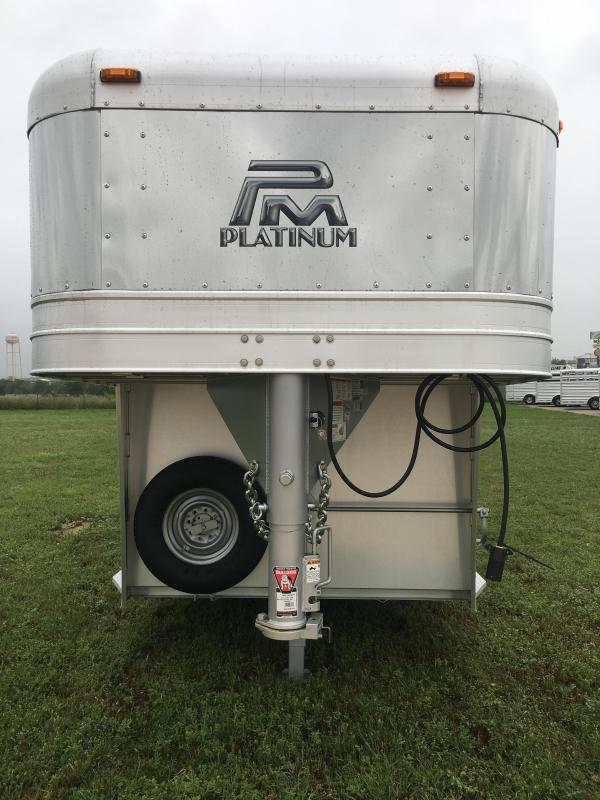 2019 Platinum Coach 20 ft Stock Combo Livestock Trailer