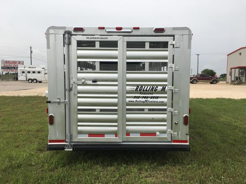 2019 Platinum Coach 28 ft with 17.5 Continental Tires Livestock Trailer