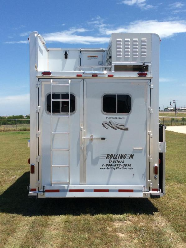 2018 Platinum 4 Horse 17 ft LQ Side Load with Slide Horse Trailer