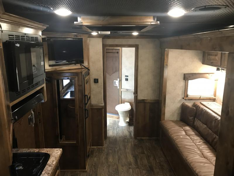 2019 Platinum Coach 3 Horse 13 SW with Slide Horse Trailer