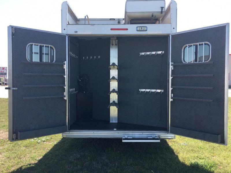 2013 Bloomer/Outlaw 4 Horse Side Load 14 Short Wall with Slide Horse Trailer