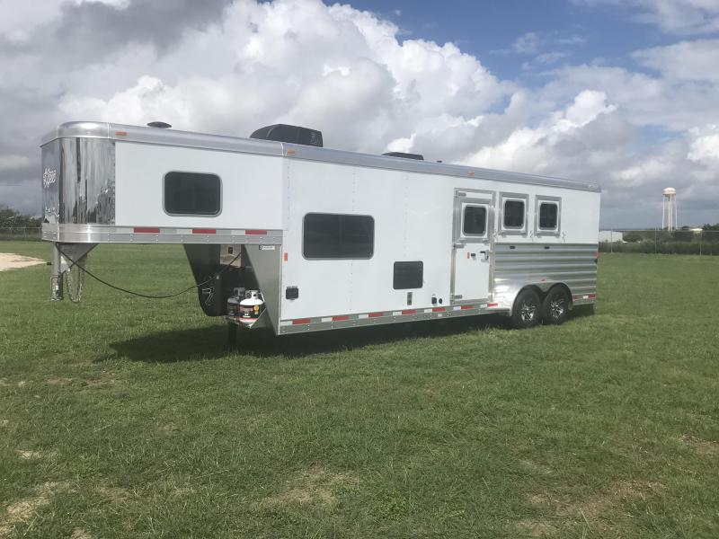 2019 Exiss Trailers 3 Horse with 10.5ft Shortwall Horse Trailer