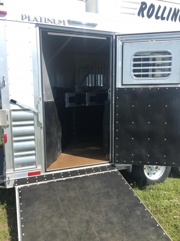 2018 Platinum Coach 4 Horse with 13 ft Short Wall and Slide Horse Trailer
