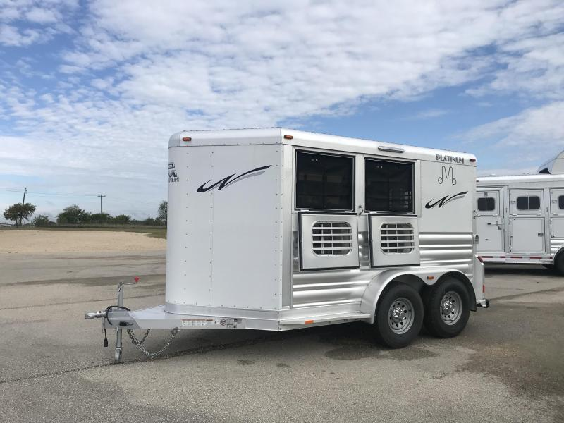 2018 Platinum Coach 2 Horse Bump Pull Horse Trailer