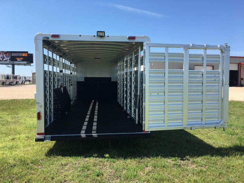 2019 Platinum Coach 28 ft by 8 ft Wide Stock Combo Livestock Trailer
