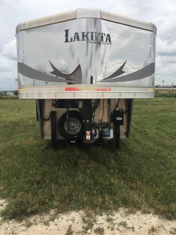 2017 Lakota 4 Horse Charger 11 ft Short Wall with Slide Horse Trailer