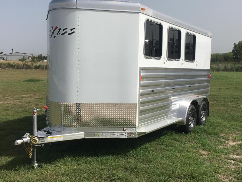 2019 Exiss Trailers 3 Horse Bumper Pull CXF Horse Trailer