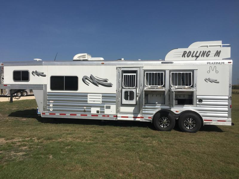 2018 Platinum Coach 3 Horse 10 SW with Generator Horse Trailer