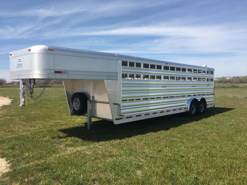 2019 Platinum Coach 24 Livestock Trailer
