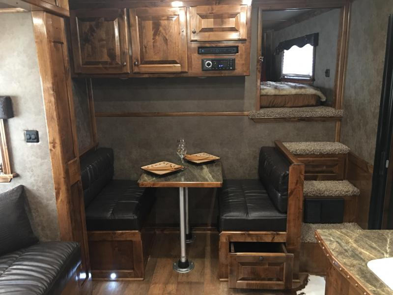 2019 Platinum Coach 4 horse 15 ft 8 short wall with slide Horse Trailer