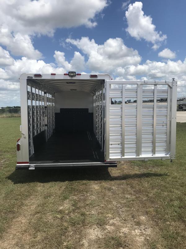 2019 Platinum Coach 24 FT COMBO SPORT Livestock Trailer