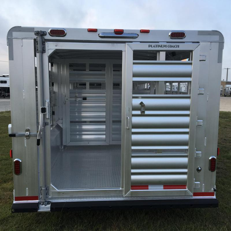 wide stock coach livestock tx trailer new with platinum axles