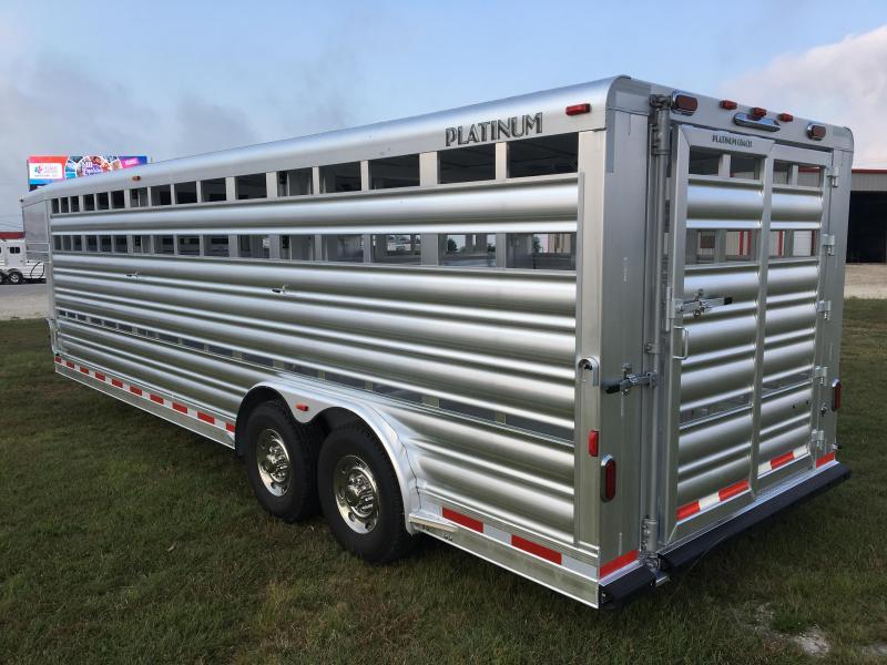 2019 Platinum Coach 8' Wide x 24' Stock Livestock Trailer