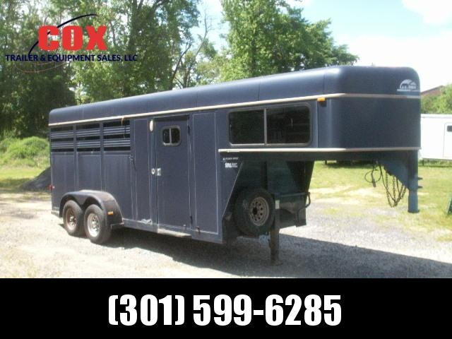 1996 sundowner trailers 3-h rancher special gn horse trailer