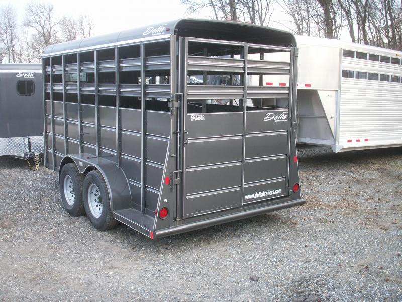 2016 Delta Manufacturing Extra Height 16 Stock Trailer