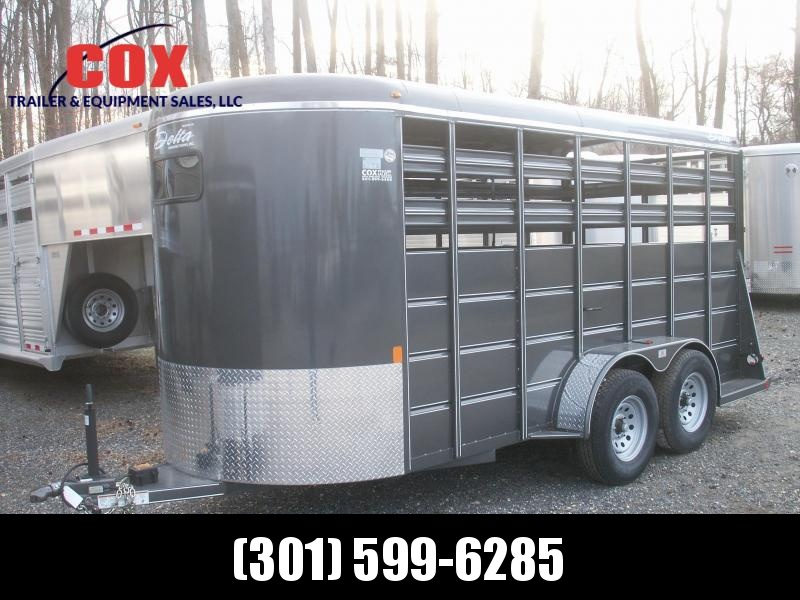 2016 Delta Manufacturing EXTRA HEIGHT 16 STOCK TRAILER Livestock Trailer in Ashburn, VA