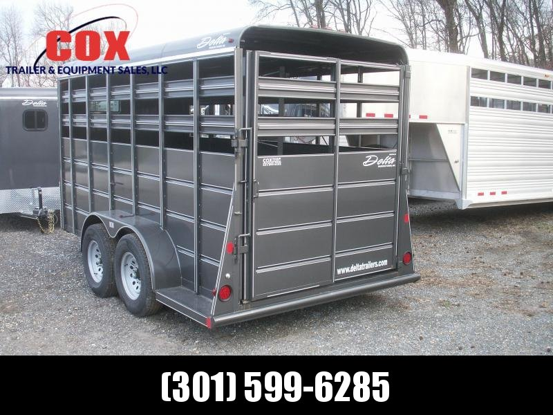 2016 Delta Manufacturing EXTRA HEIGHT 16 STOCK TRAILER Livestock Trailer