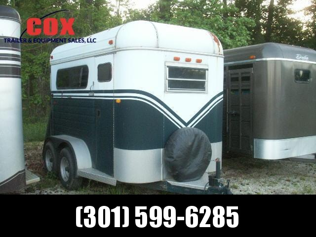 2001 Shoops Trailer Mfg Inc. 2-H TB EXTRAWIDE AND HEIGTH Horse Trailer in Ashburn, VA