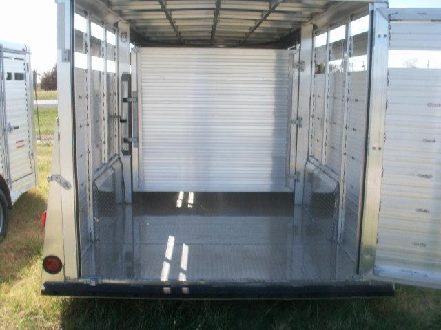 2015 W-W Trailer 16 ALL ALUMINUM 7WIDE Stock / Stock Combo Trailer