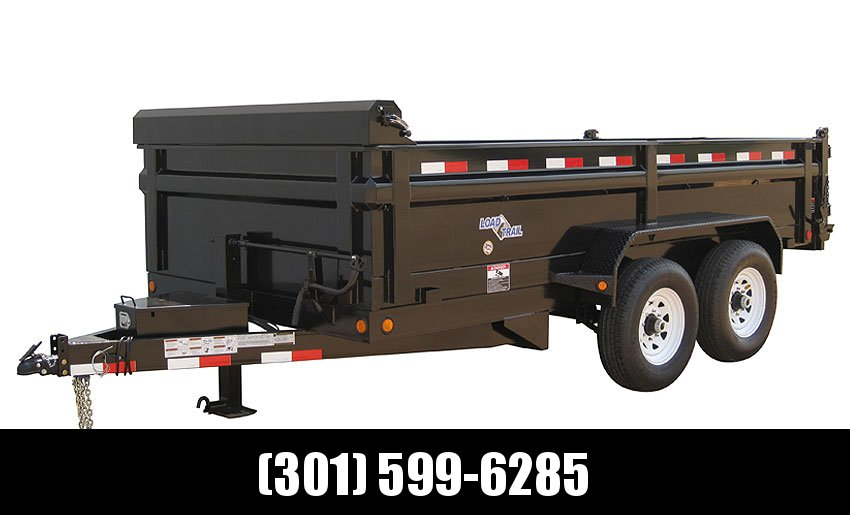 "2019 Load Trail 96"" X 14' Tandem Axle Pintle Hook Deck Over Dump Dump Trailer"