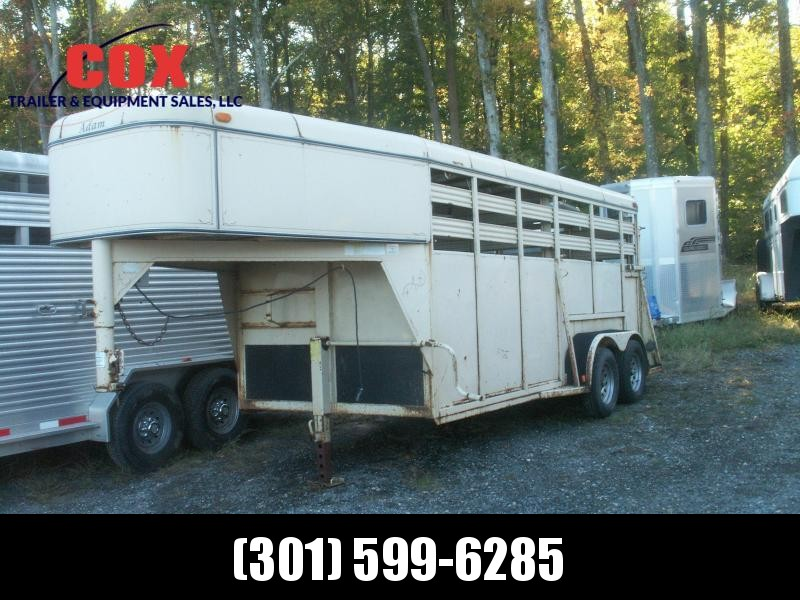2001 Adam 16 GN STEEL STOCK TRAILER Livestock Trailer in Ashburn, VA