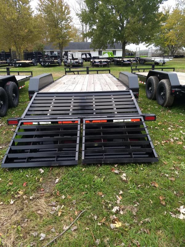 Load Trail 20' 14K Equipment Trailer W/ Max Ramps And Rub Rail