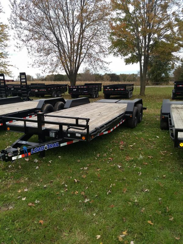 Load Trail 20' 14K Equipment Trailer W/ Max Ramps And Rub Rail
