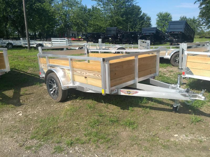 2018 H and H Trailer 5.5(66)X8 ALUM WOOD-SIDE 3K