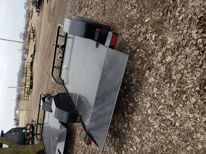 New 5X10 Man Lift Trailer W/Cushion Down