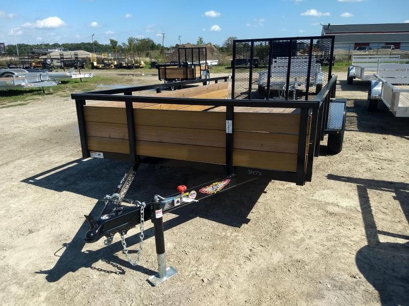 2019 H and H Trailer 8.5X14 STEEL WOOD SIDE 3.5K