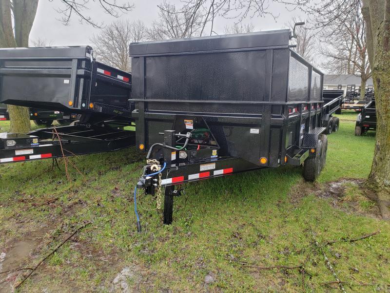 """Load Trail 83"""" X 14' 14K Dump Trailer Deluxe Model W/ 2' Side Extension"""