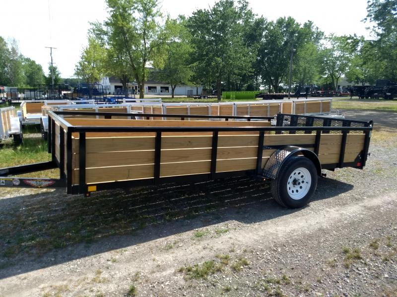 2018 H and H Trailer 8.5X14 STEEL WOOD SIDE 3.5K
