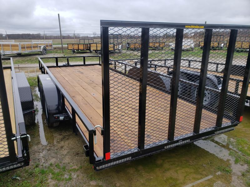 2018 H and H Trailer 8.5.X18 STEEL RAIL SIDE TANDEM 7K