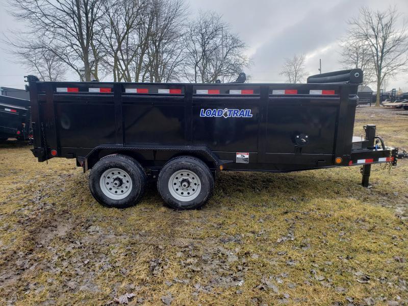 """Load Trail 83"""" X 14' Dump Trailer Deluxe Model W/ 3' Solid Walls"""