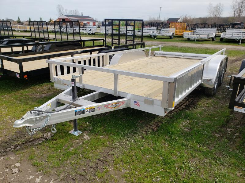New 8.5(82)X16 Aluminum Landscape Trailer W/Side Ramps