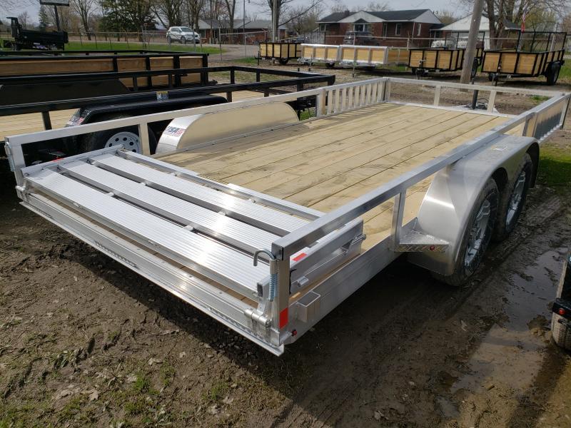 New 8.5(82)X16 Aluminum Landscape Trailer W/Side Ramps