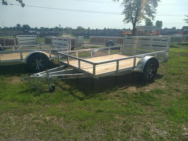 2018 H and H Trailer 8.5W(82IN)X10 ALUM RAILSIDE