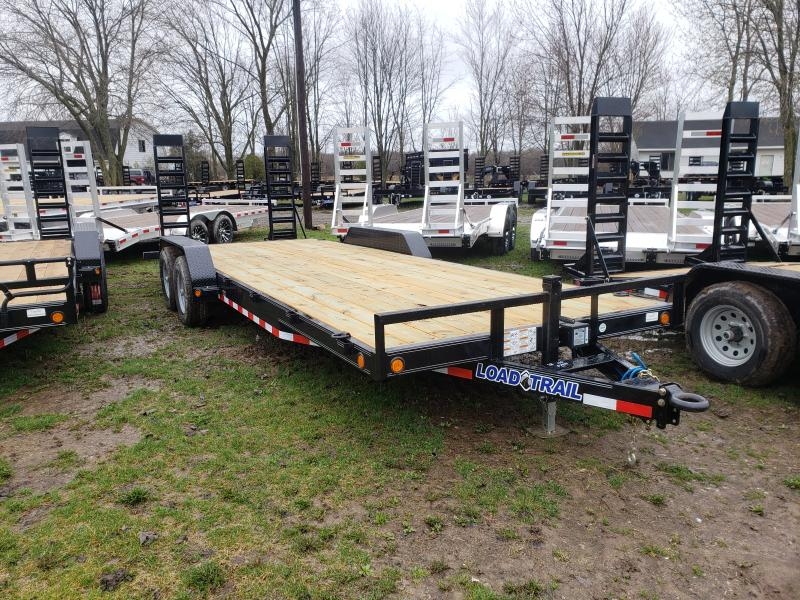 New 22' 10K Load Trail Equipment Trailer W/ Flip Up Ramps