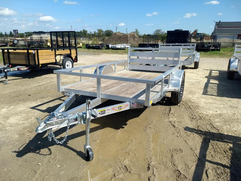 2018 H and H Trailer 5.5(66)x10 RAILSIDE ALUM STD