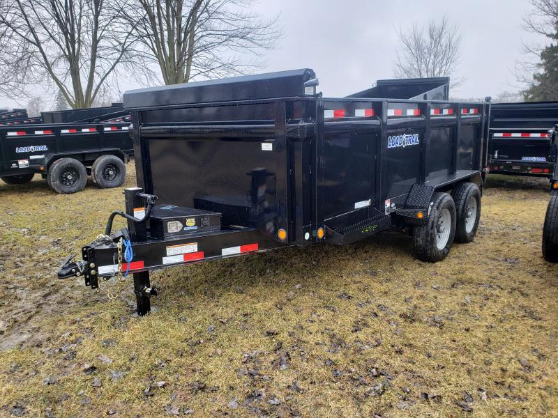 "Load Trail 83"" X 14' Dump Trailer Deluxe Model W/ 3' Solid Walls"