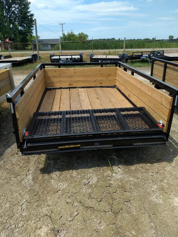2018 H and H Trailer 5.5X8 STEEL WOOD SIDE 3.5K