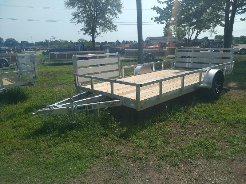 2018 H and H Trailer 82X14 RAILSIDE ALUM SIDEGATE 3K
