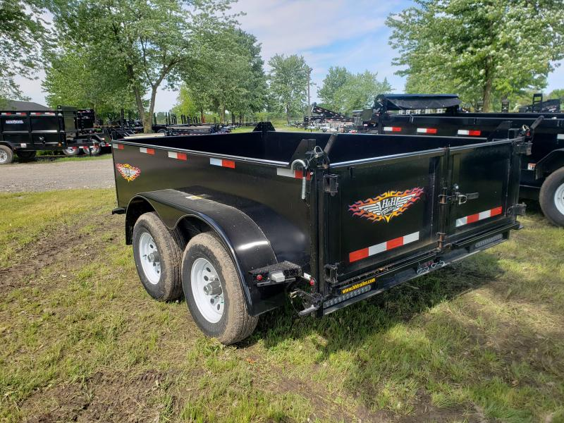 2019 H and H Trailer 76X10 UTILITY DUMP 24IN SW 10K BRAKE