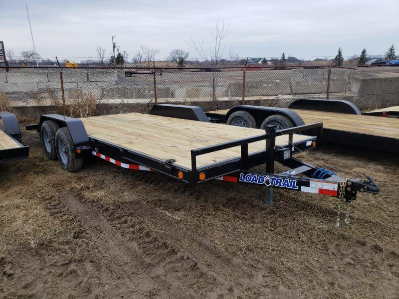 New 18' 10K Load Trail Car hauler Trailer W/Dove Tail & Slid In Ramps