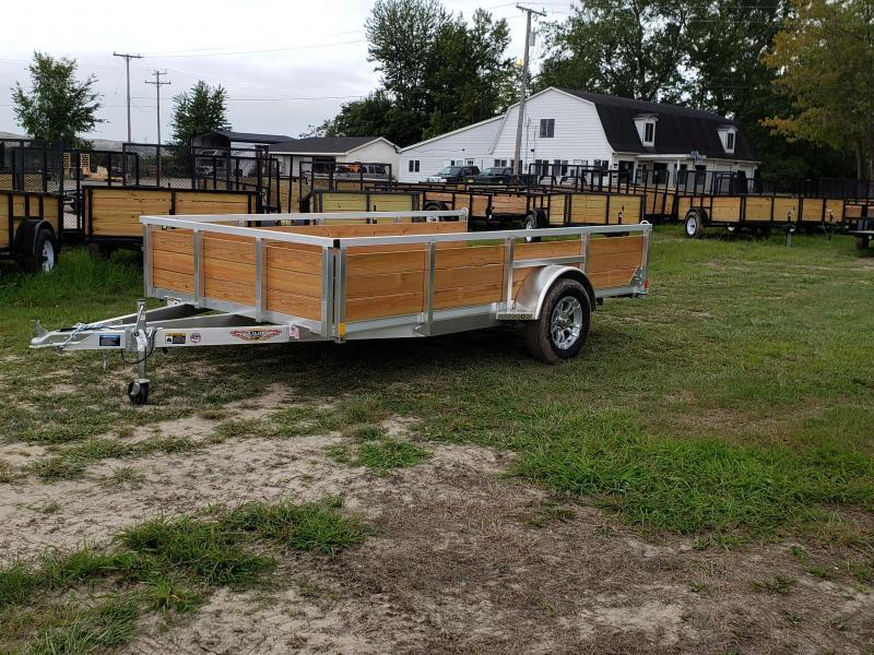New 82x12 Aluminum Wood Side Landscape Trailer By H&H