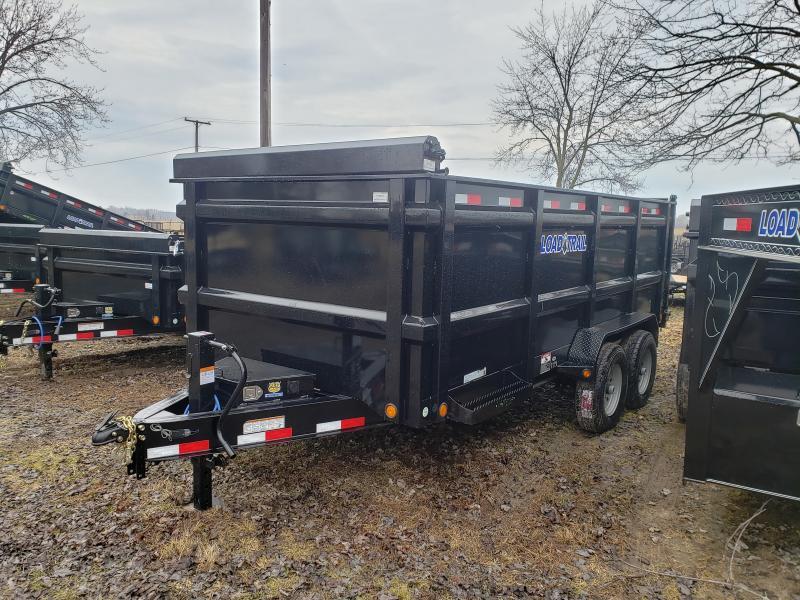 """Load Trail 83"""" X 16' Dump Trailer Deluxe Model W/ 4' Solid Walls"""